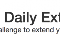 image of text saying Daily Extend, small daily challenges to extend your online skills