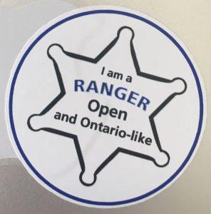 open ranger badge