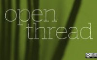green background, words that say open thread